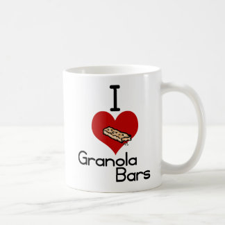 I love-heart granola bars classic white coffee mug