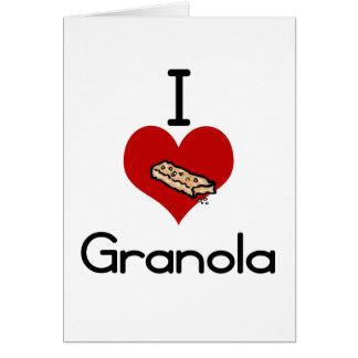 I love-heart granola greeting card