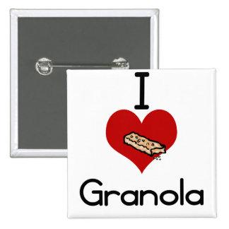 I love-heart granola pinback buttons