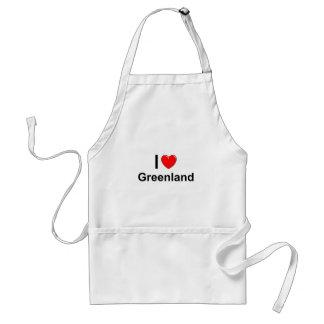 I Love Heart Greenland Standard Apron