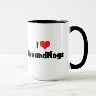 I Love Heart Groundhogs - Groundhog Lover Mug