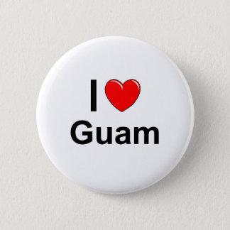 I Love Heart Guam 2 Inch Round Button