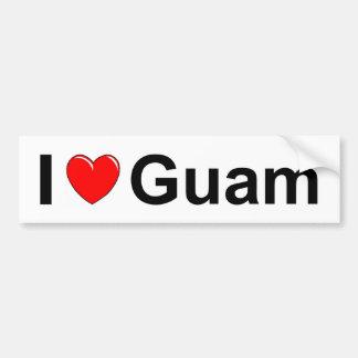I Love Heart Guam Bumper Sticker