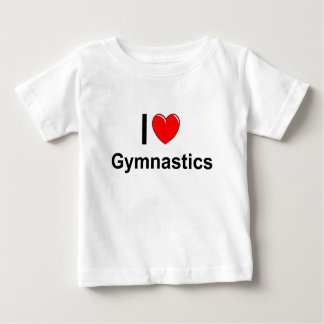 I Love Heart Gymnastics Baby T-Shirt