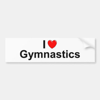 I Love Heart Gymnastics Bumper Sticker