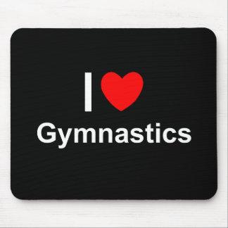I Love Heart Gymnastics Mouse Pad