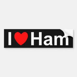 I Love Heart Ham Bumper Sticker