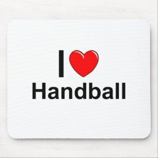 I Love Heart Handball Mouse Pad