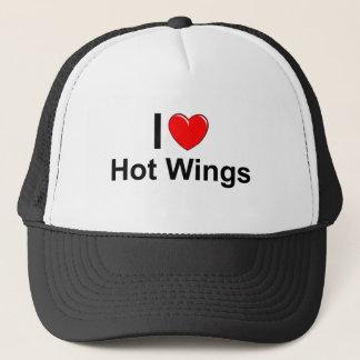 I Love Heart Hot Wings Trucker Hat