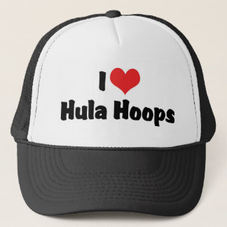 I Love Heart Hula Hoops - 1950's Hula Hoop Lover Trucker Hat