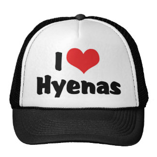 I Love Heart Hyenas Trucker Hat