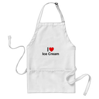 I Love Heart Ice Cream Standard Apron