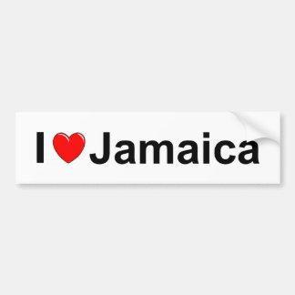 I Love Heart Jamaica Bumper Sticker