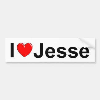 I Love (Heart) Jesse Bumper Sticker