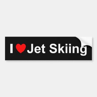 I Love Heart Jet Skiing Bumper Sticker