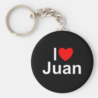 I Love (Heart) Juan Keychain