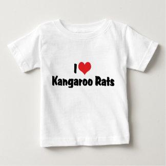 I Love Heart Kangaroo Rats Baby T-Shirt