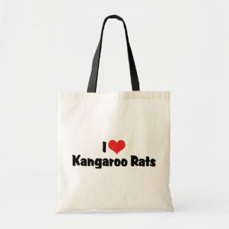 I Love Heart Kangaroo Rats Budget Tote Bag