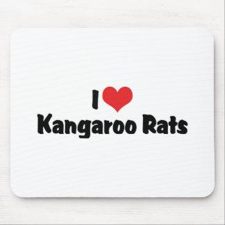 I Love Heart Kangaroo Rats Mouse Pad