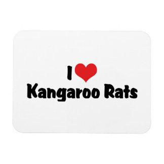 I Love Heart Kangaroo Rats Rectangular Photo Magnet