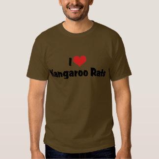 I Love Heart Kangaroo Rats T-shirt