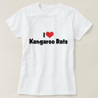 I Love Heart Kangaroo Rats T Shirts