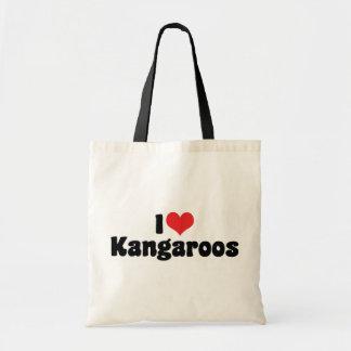 I Love Heart Kangaroos - Kangaroo Lover Budget Tote Bag