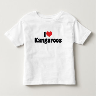 I Love Heart Kangaroos - Kangaroo Lover Toddler T-shirt