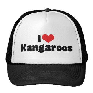 I Love Heart Kangaroos - Kangaroo Lover Trucker Hat