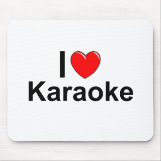 I Love Heart Karaoke Mouse Pad