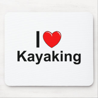 I Love Heart Kayaking Mouse Pad