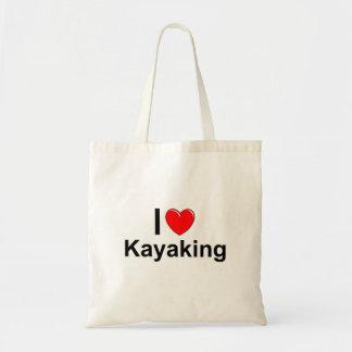 I Love Heart Kayaking Tote Bag