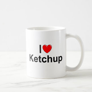 I Love (Heart) Ketchup Classic White Coffee Mug