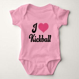 I Love (Heart) Kickball Baby Bodysuit