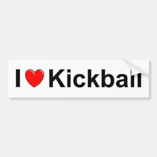 I Love Heart Kickball Bumper Sticker