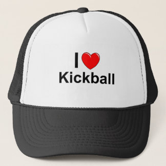 I Love Heart Kickball Trucker Hat
