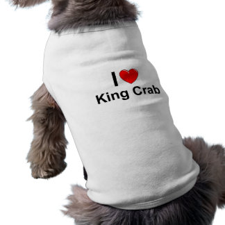I Love Heart King Crab Shirt