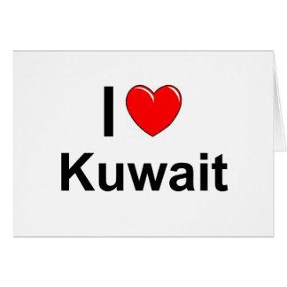 I Love Heart Kuwait Card