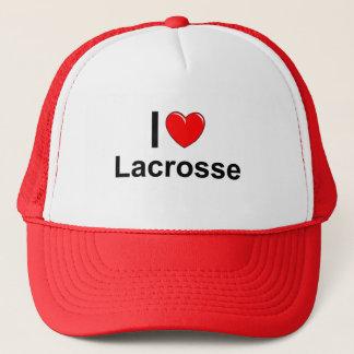 I Love Heart Lacrosse Trucker Hat