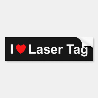 I Love Heart Laser Tag Bumper Sticker