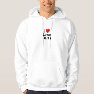 I Love Heart Lawn Darts Hoodie