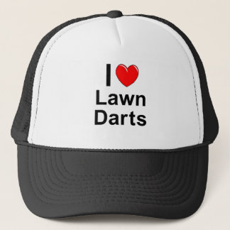 I Love Heart Lawn Darts Trucker Hat