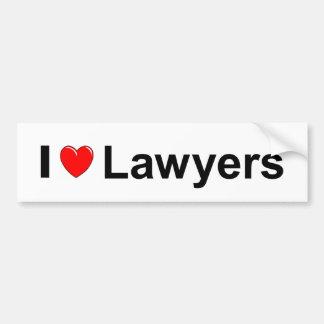 I Love Heart Lawyers Bumper Sticker