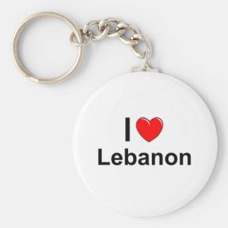 I Love Heart Lebanon Keychain