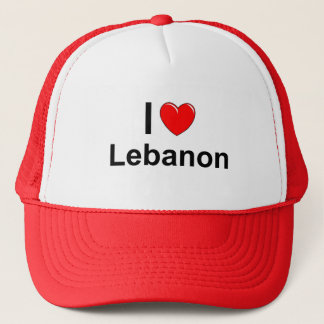 I Love Heart Lebanon Trucker Hat