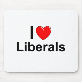 I Love Heart Liberals Mouse Pad