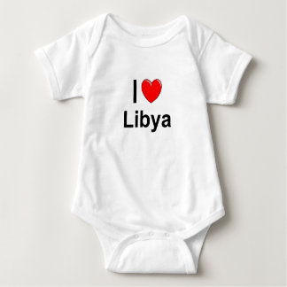 I Love Heart Libya Baby Bodysuit