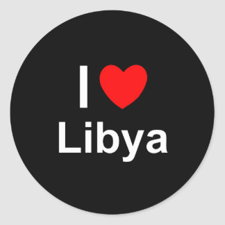 I Love Heart Libya Classic Round Sticker