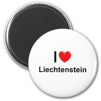 I Love Heart Liechtenstein Magnet
