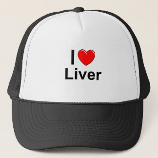 I Love Heart Liver Trucker Hat